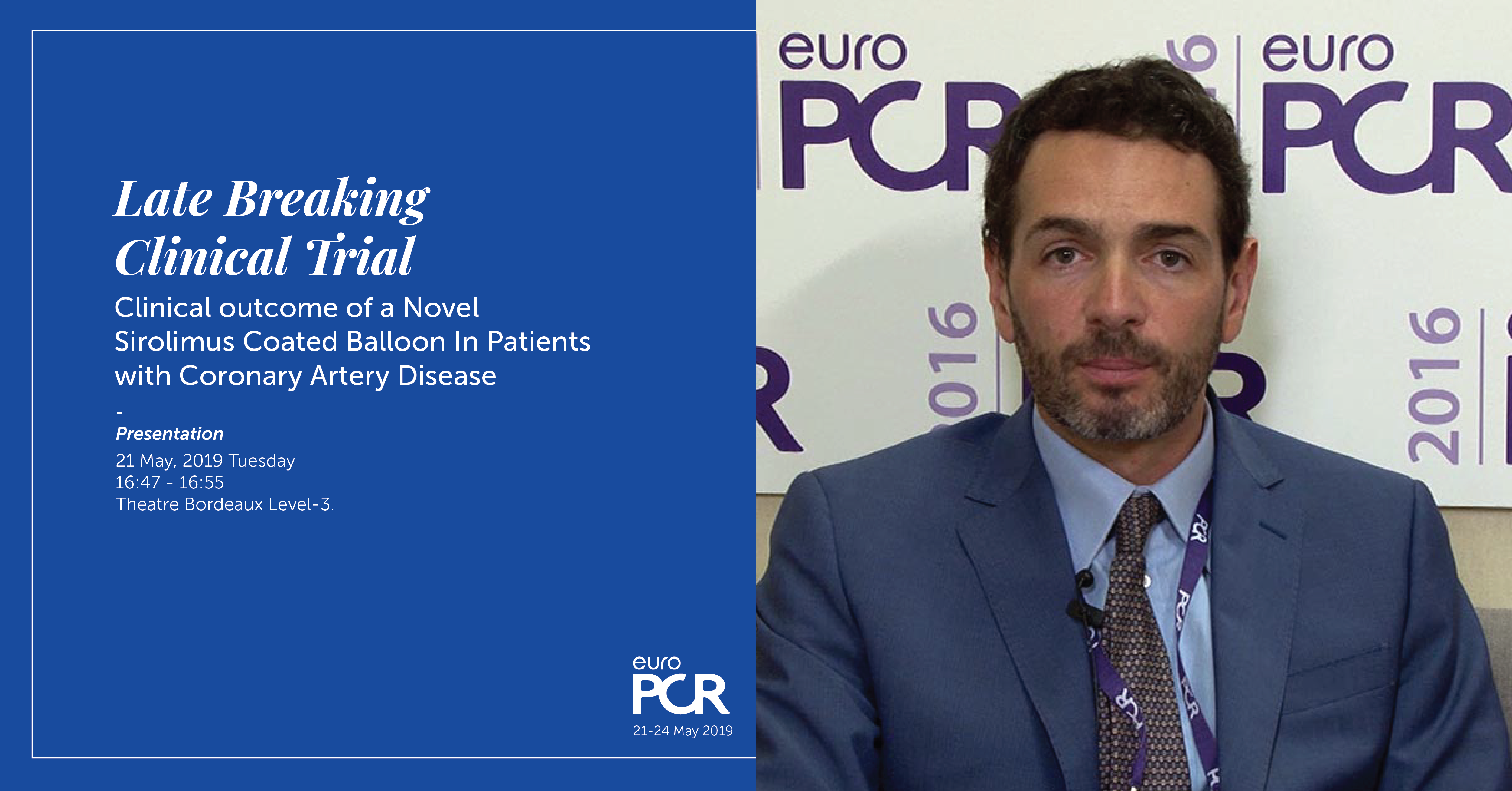 EASTBOURNE interim analysis-selected as LBCT at EuroPCR 2019