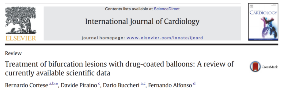 International Journal of Cardiology – Treatment of bifurcation lesions with drug-coated balloons: A review of currently available scientificdata