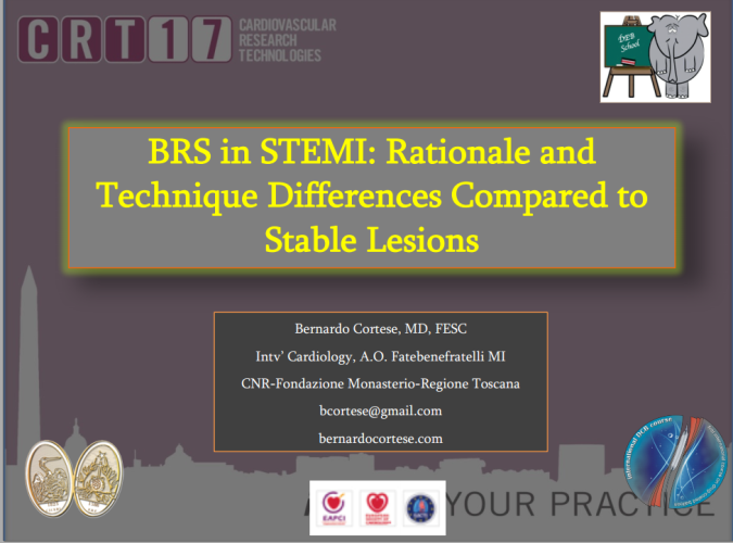 BRS in STEMI: Rationale and Technique Differences Compared to Stable Lesions
