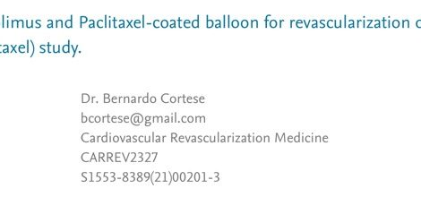 Drug-eluting scoring balloon in native vessel-publication
